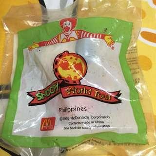 公仔擺設 麥當勞史諾比世界之旅 菲律賓造型 (Snoopy World Tour PHILIPPINES)