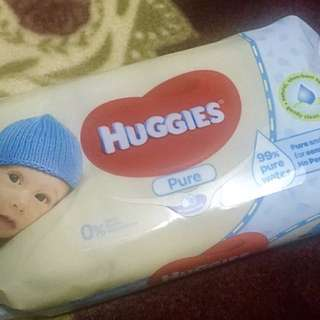 Sealed Huggies Pure Baby Wipes