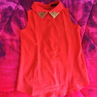 DReich Collar Top