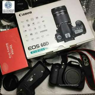 Canon Eos 60d Body And Battery Grip
