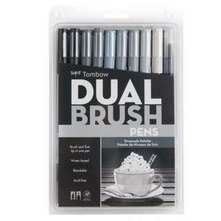 Tombow Brush Pen 10 set Gray