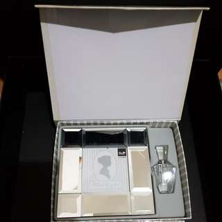S&P Living Mirror Frame & Crystal Parfum Bottle