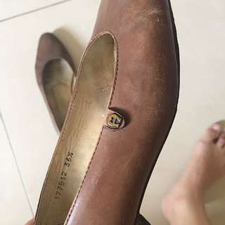 (100% ORI) AIGNER Brown Leather Shoes
