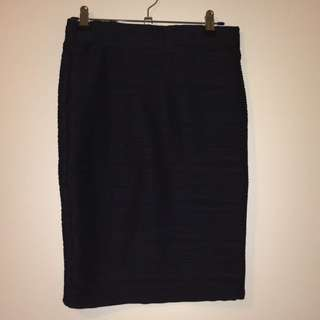 Black Wave Pattern Temt Skirt