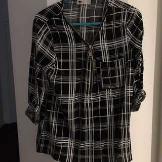TEMP Square pattern shirt