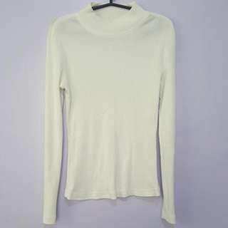 Calypso Ribbed Longsleeve Top Size Small