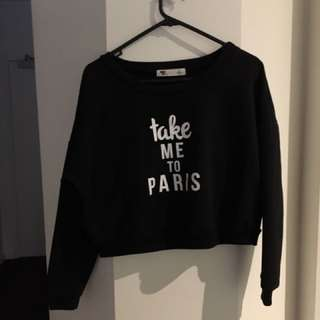 TEMP sweatshirt crop top
