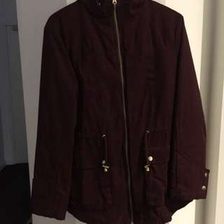 ASOS Red wine parka