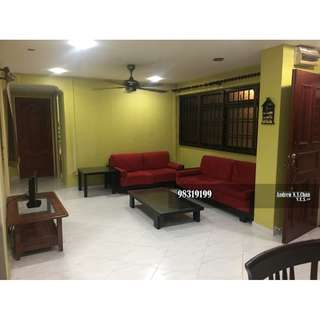 3+1 Blk 424 Woodlands Marsiling MRT Fully Furnished Aircon Mid Flr Don't Miss 1.7k