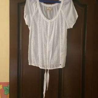 Hollister white blouse