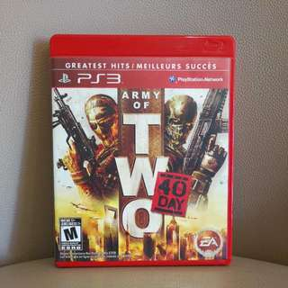 PS3遊戲片~ Army Of Two~戰爭遊戲~含運