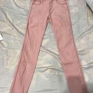 🚚 粉色彈性褲