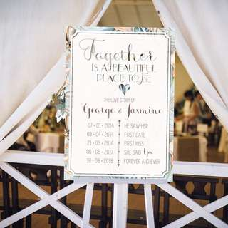 Our Love Story Wedding Signage