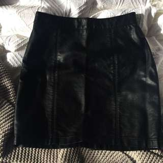 Glassons Leather Look Skirt