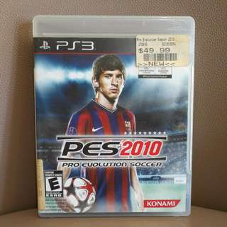 PS3遊戲片,便宜賣,足球 PES2010,含運~