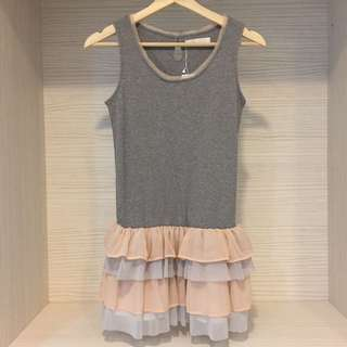 全新 日本購入109百貨品牌 雪紡蛋糕洋裝