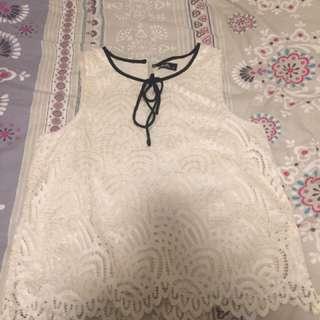 Dotti Size 12 Lace Cropped Top