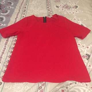Satin Look Red Target Shirt