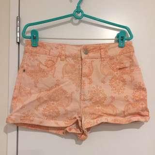 Coral Summer Shorts