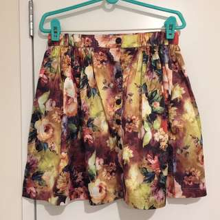 CHICA BOOTI Floral Skirt