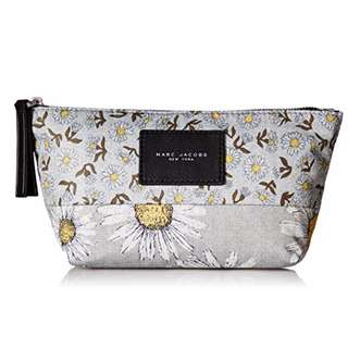 AUTHENTIC Marc Jacobs B.Y.O.T. Mixed Daisy Flower Trapezoid Cosmetics case pouch bag