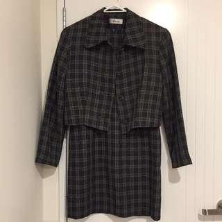 Office Style Dress & Blazer Set