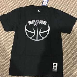 Brand New Adidas NBA San Antonio Spurs Black Tee M