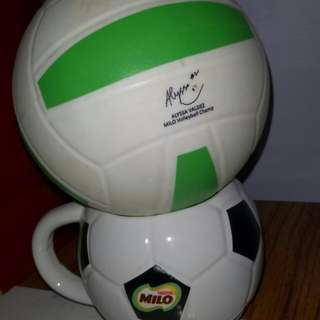 Limited Edition Milo Ball With Signature Of Allysa Valdez And Free Milo Mag