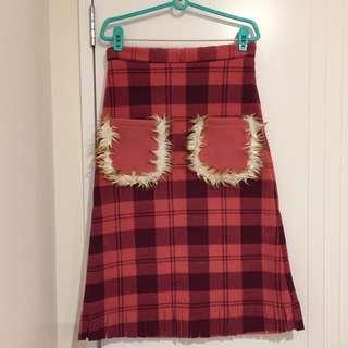 Cute Pink Fluffy Pockets Skirt