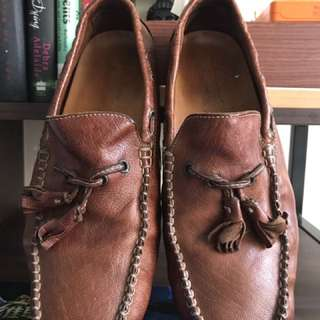 Calzoleria Toscana Driving Shoes Size 8