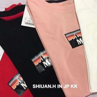 Shiuan H. in JP 2017 7月日本帶回夏季新款MOUSSY胸前人氣字母印花百搭短袖T