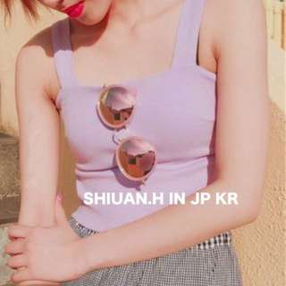 Shiuan H. in JP 2017 7月日本帶回夏季新款onespo甜美露背大蝴蝶結綁帶短款吊帶背心上衣