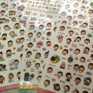全新韓國momoi貼紙  1包6張不同款