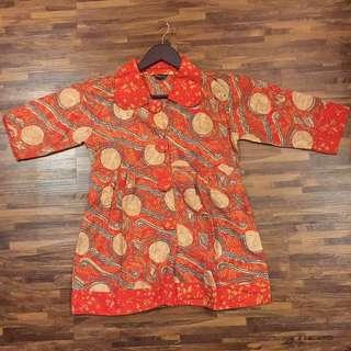 Batik Top Orange