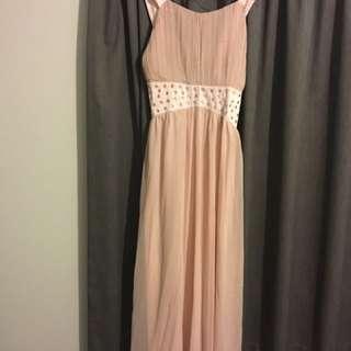 Peach Ball Dress