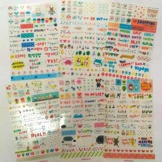 全新韓國貼紙 1包6張不同款