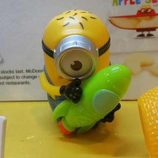 Guarranteed Brand new Sealed In Plastic Bag,  Mcdonald Happy Meal Gift, 2017 Rocket Racer Minion, From Despicable ME3 (Only 1 Available )