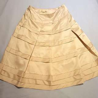 Alannah Hill Be Quiet! Gold Skirt Pin Up Retro A Line Size 6 XS