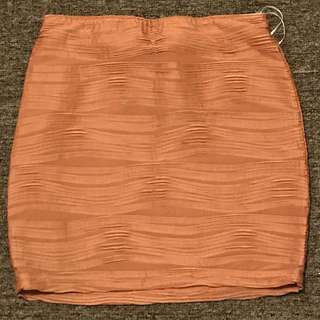 Peach Brown Mini Skirt
