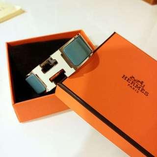 Hermes Clic H Logo 琺瑯手環