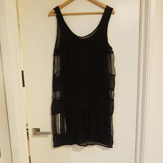 Zimmermann Black Dress Sz 1 (Sz10/12 Aus)