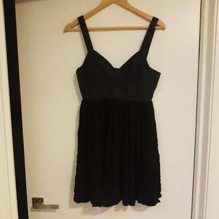 Betsey Johnson Black Mini Dress Sz 10