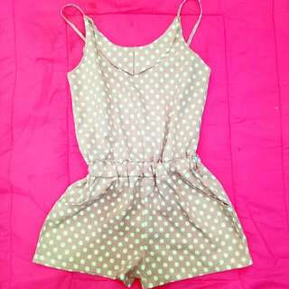 Polka Dots Romper / Small - Medium