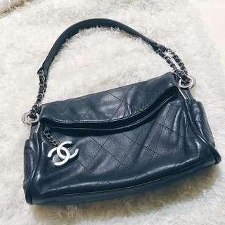 🚚 香奈兒Chanel 手提包 側背肩背 小羊皮銀鍊包(降價)