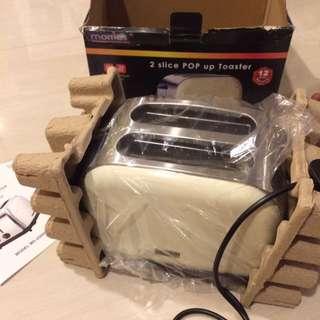 Morries 2 Slice Pop Up Toaster