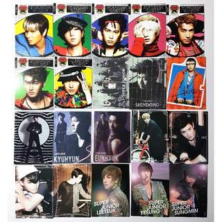 SUPER JUNIOR STAR COLLECTION CARDS