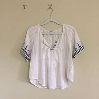 White Forever 21 Blouse