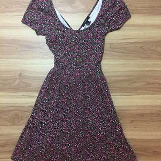 F21 Dress with Criss Cross Back  (Size small)