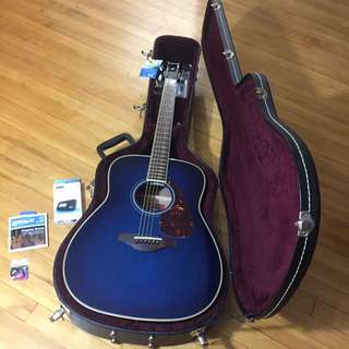 Blue Yamaha Acoustic Guitar Bundle