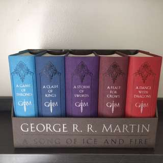A Song of Ice and Fire (Game of Thrones) Leather-Bound Book Set